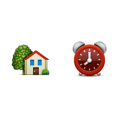 Christmas Emoji answer: HOME TIME