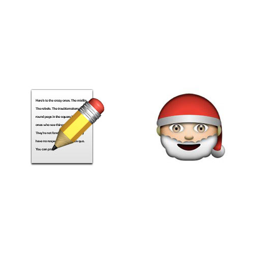Christmas Emoji answer: LETTER TO SANTA