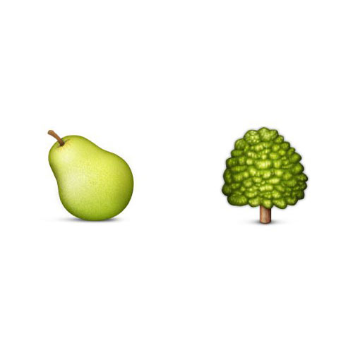 Christmas Emoji answer: PEAR TREE