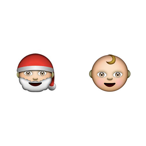 Christmas Emoji answer: SANTA BABY
