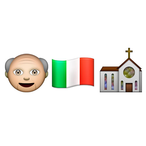 Christmas Emoji answer: THE POPE