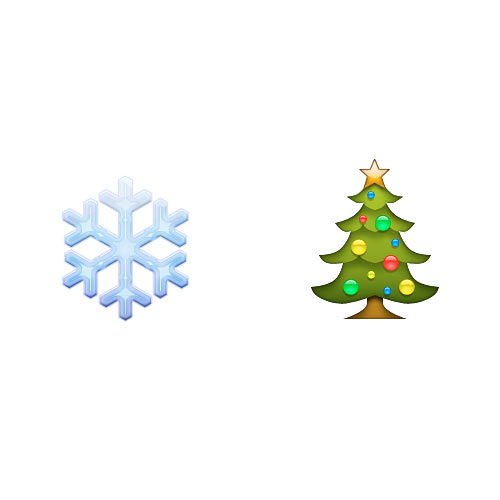 Christmas Emoji answer: WHITE CHRISTMAS