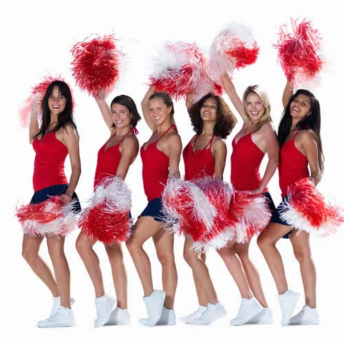 C is for... answer: CHEERLEADERS