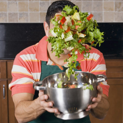 Cooking answer: TOSSING SALAD