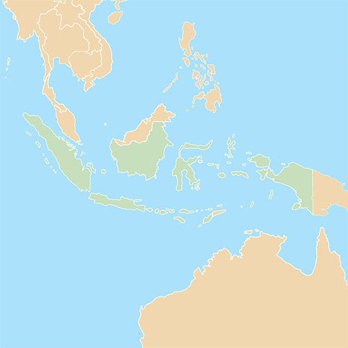 Countries answer: INDONESIA