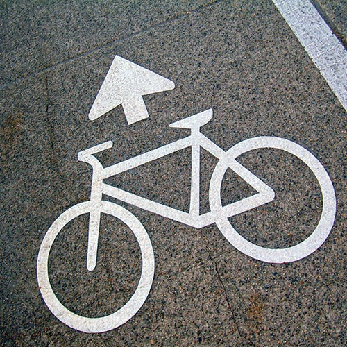 Cycling answer: CYCLE LANE