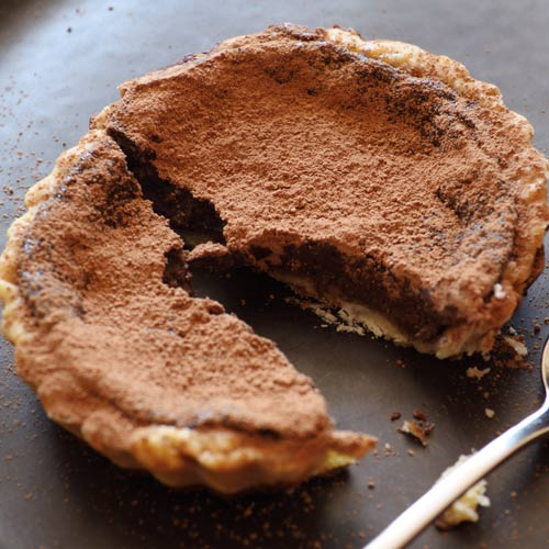 Desserts answer: CHOCOLATE TART