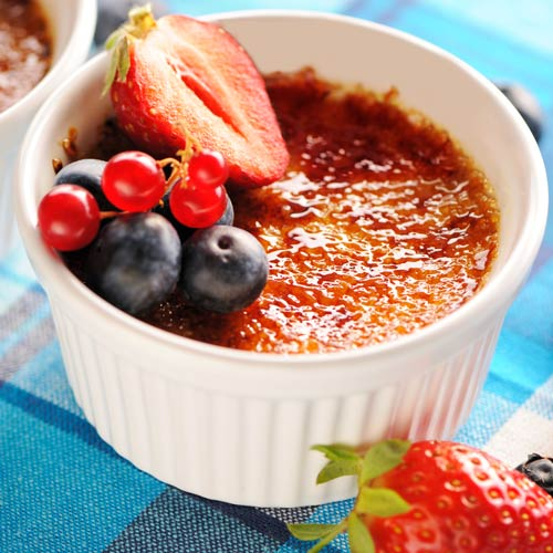 Desserts answer: CREME BRULEE