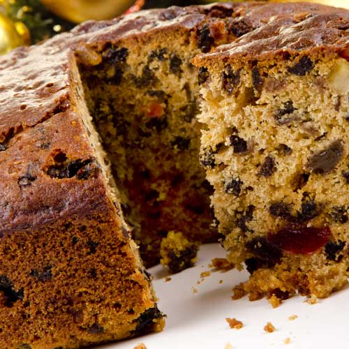 Desserts answer: FRUIT CAKE