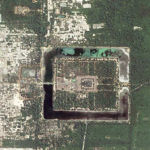 Earth from Above answer: ANGKOR WAT