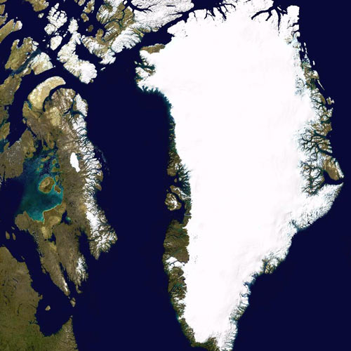 Earth from Above answer: GREENLAND