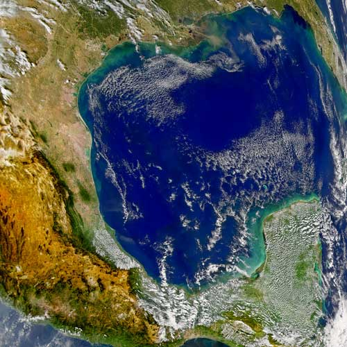 Earth from Above answer: GULF OF MEXICO