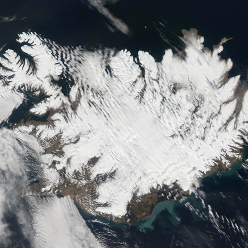 Earth from Above answer: ICELAND
