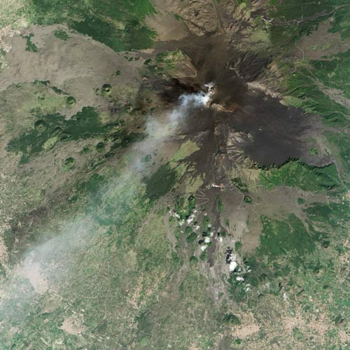 Earth from Above answer: MOUNT ETNA