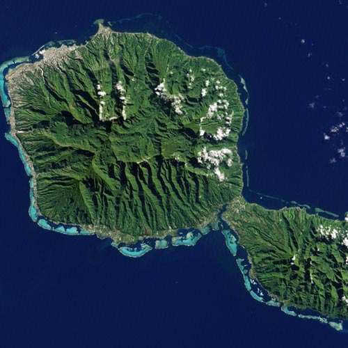 Earth from Above answer: TAHITI