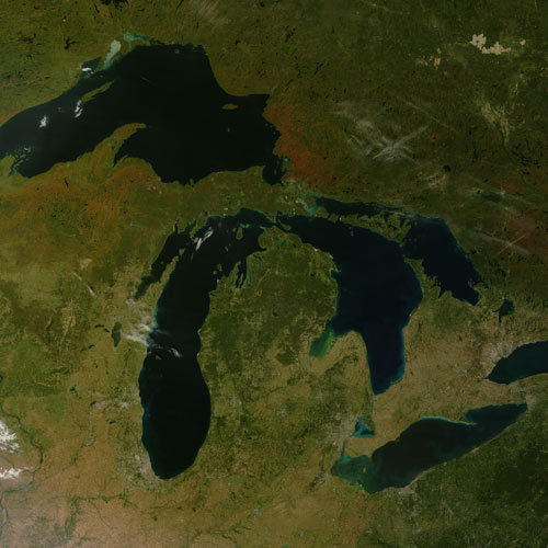Earth from Above answer: THE GREAT LAKES