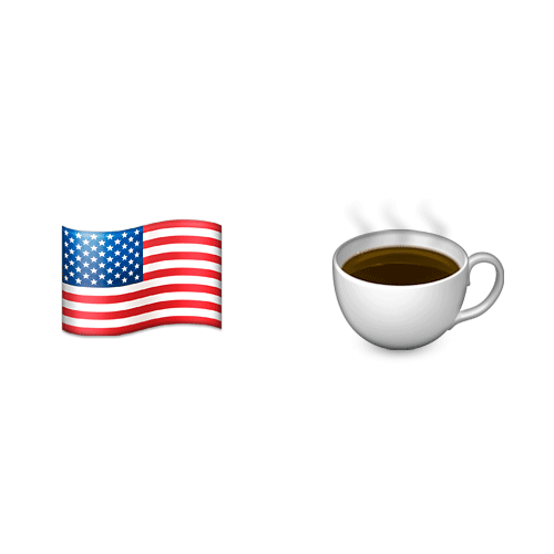 Emoji 2 answer: AMERICANO