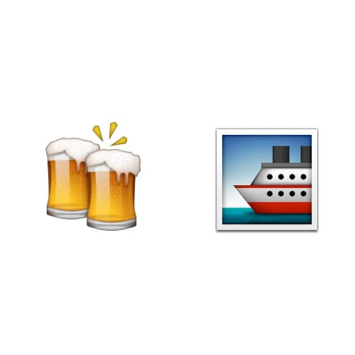 Emoji 2 answer: BOOZE CRUISE