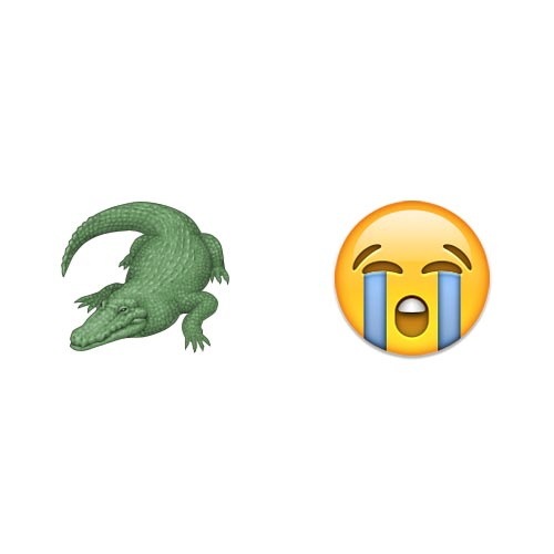Emoji 2 answer: CROCODILE TEARS