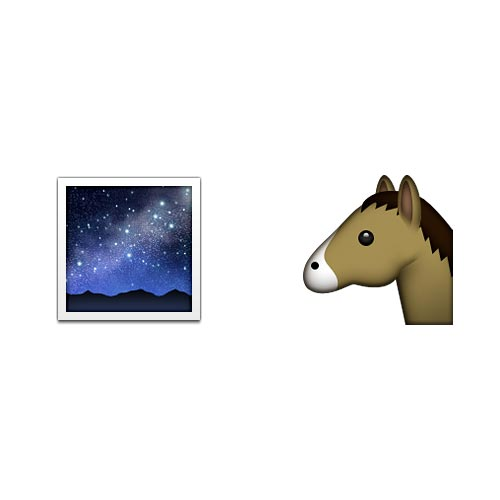 Emoji 2 answer: DARK HORSE