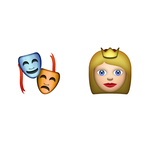 Emoji 2 answer: DRAMA QUEEN