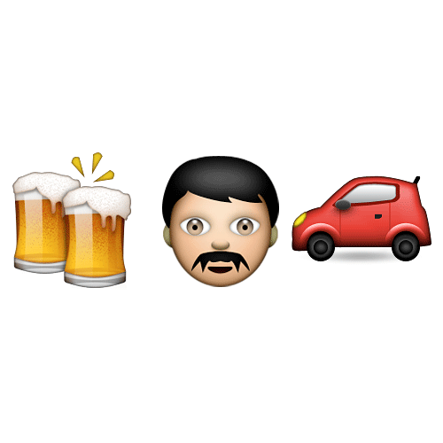 Emoji 2 answer: DRINK DRIVING
