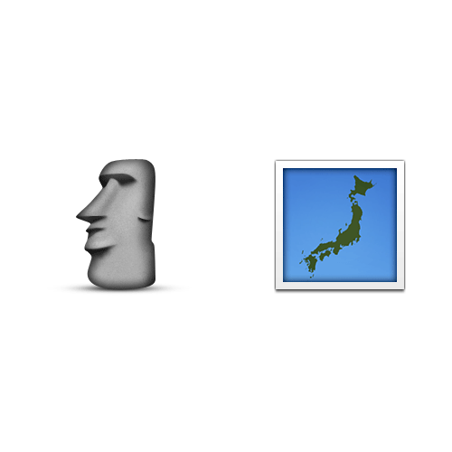 Emoji 2 answer: EASTER ISLAND