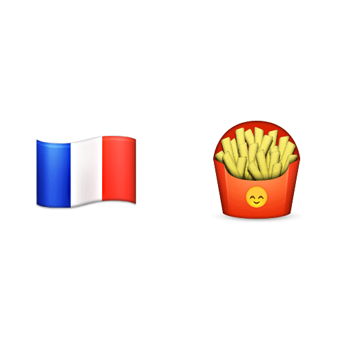 Emoji 2 answer: FRENCH FRIES