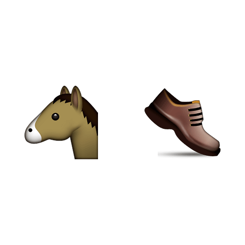 Emoji 2 answer: HORSESHOE