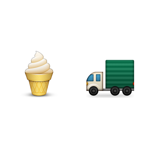Emoji 2 answer: ICE CREAM TRUCK