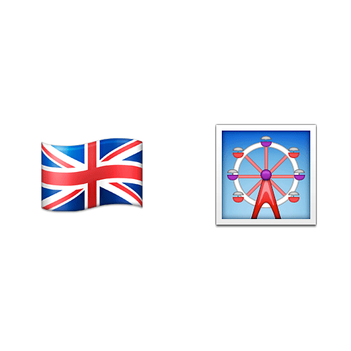 Emoji 2 answer: LONDON EYE