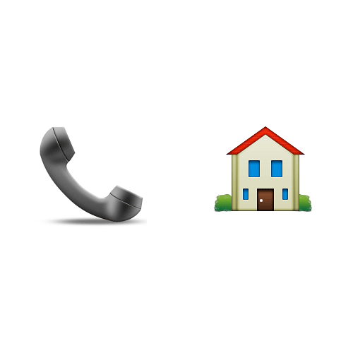Emoji 2 answer: PHONE HOME