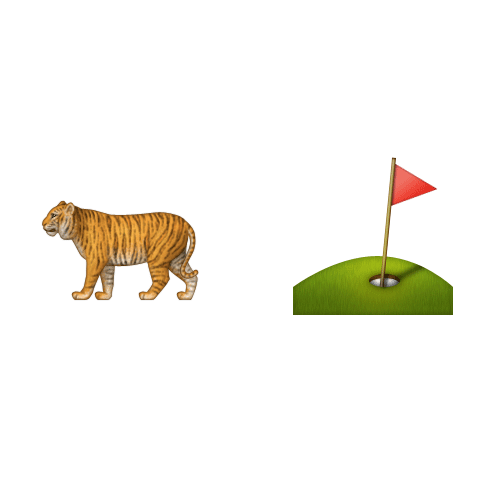 Emoji 2 answer: TIGER WOODS