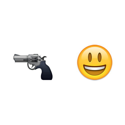 Emoji 2 answer: TRIGGER HAPPY