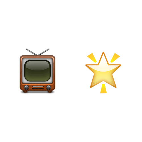 Emoji 2 answer: TV STAR