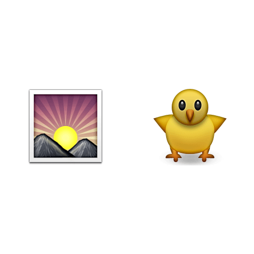 Emoji Quiz 3 answer: EARLY BIRD