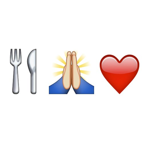 Emoji Quiz 3 answer: EAT PRAY LOVE