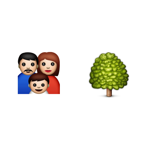 Emoji Quiz 3 answer: FAMILY TREE
