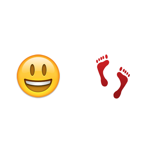 Emoji Quiz 3 answer: HAPPY FEET