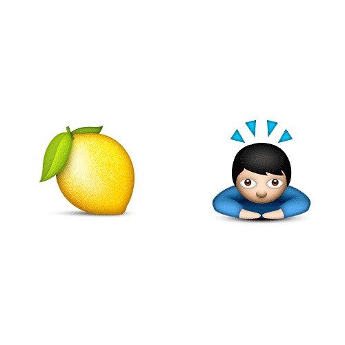 Emoji Quiz 3 answer: LEMONHEAD