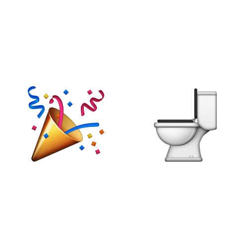 Emoji Quiz 3 answer: PARTY POOPER