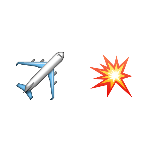 Emoji Quiz 3 answer: PLANE CRASH