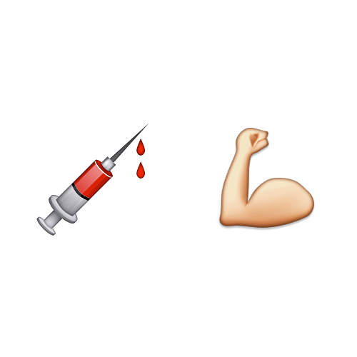 Emoji Quiz 3 answer: STEROIDS
