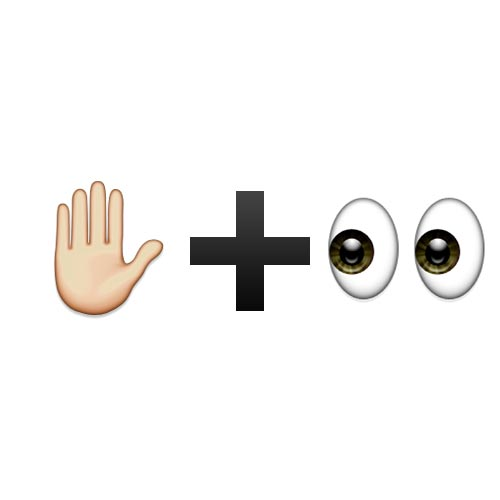 Emoji Quiz 3 answer: WAIT AND SEE