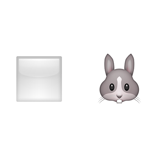 Emoji Quiz 3 answer: WHITE RABBIT