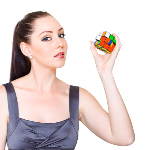 Experiences answer: DO A RUBIKS CUBE