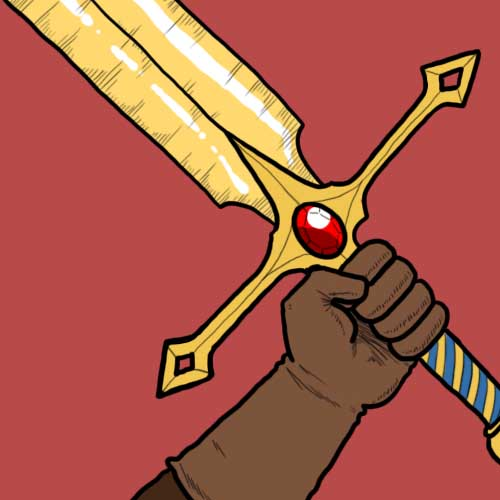 Fairy Tales answer: THE GOLDEN BLADE