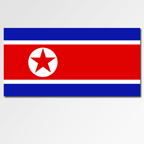 Flags answer: NORTH KOREA
