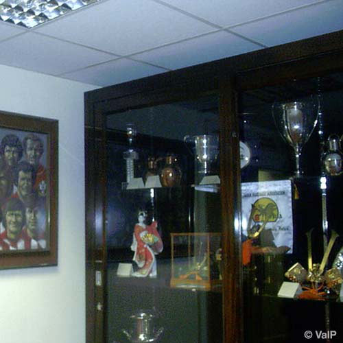 Football Focus answer: TROPHY CABINET