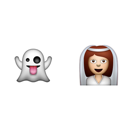 Halloween Emoji answer: GHOST BRIDE